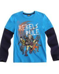 Реглан синего цвета с героями из мультфильма Звездные войны: Повстанцы (Star Wars Rebels)