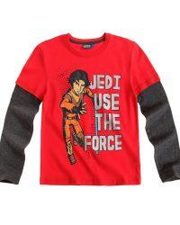 Реглан красного цвета с героями из мультфильма Звездные войны: Повстанцы (Star Wars Rebels)
