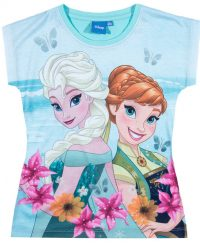 футболка с эльзой и анной холодное сердце